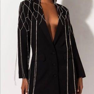 black rhinestone blazer size S